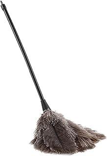 Plumero de Plumas de Avestruz, Mini Mango Largo Hecho a Mano Plumero de Limpieza de Avestruz Suave para Quitar el Polvo Adornos para el hogar, Accesorios de iluminación, Aspas de Ventilador