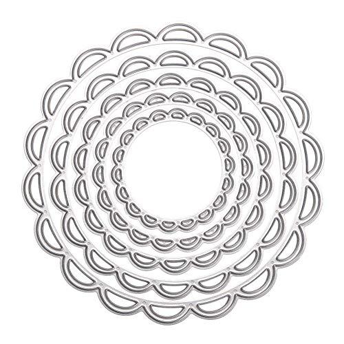 El corte de metal troqueles de corte Plantillas C¨ªrculo de anidamiento de acero al carbono de matrices de corte de la plantilla 3D Dies plantillas para ¨¢lbumes de recortes de estampado Tarjetas de b