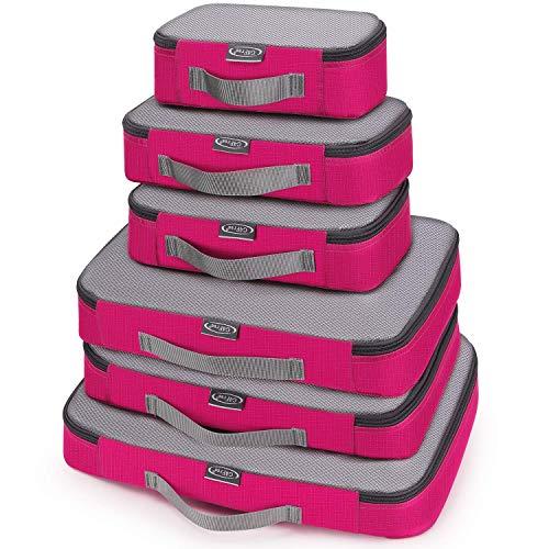 G4Free 3 st/6 st/7 st packkuber resväska organiserare packpåsar bagage organiseringsvärde set för resa hemförvaring
