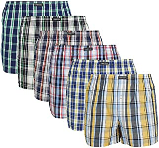 Lower East American Style, Bóxer, Hombre (Pack de 6), Multicolor (Karos), Medium