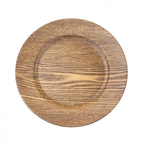 Koyal Wholesale Faux Wood Charger Plates, 13