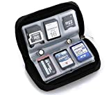 Drhob 1pcs Memory Card Storage Carrying Pouch Case Holder Wallet For CF/SD/SDHC/MS/DS
