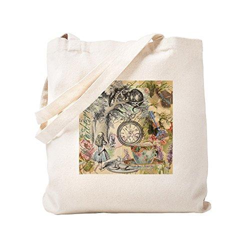 CafePress–Grinsekatze Alice im Wunderland–Leinwand Natur Tasche, Reinigungstuch Einkaufstasche Tote S khaki