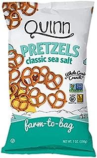 Quinn Snacks Non-Gmo & Gluten Free Pretzels, Classic Sea Salt Twists, 7 Oz, Pack Of 8
