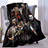 LALABOMB Michael-Myers Horror Halloween Soft Plush Throw Blanket - Super Fuzzy Lightweight Fleece Blanket for Couch Bed Sofa All Season Queen (60x80in,150x200cm, Adult's Choice)