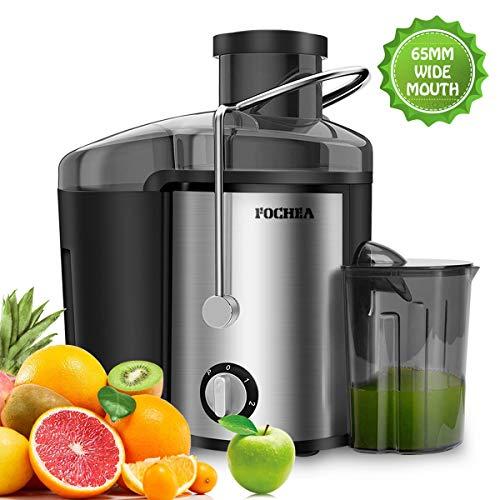 Entsafter für Obst und Gemüse aus Edelstahl FOCHEA Zentrifugaler Entsafter Juicer 65 mm Breite...