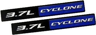 Yates Performance V6 3.7L Cyclone Black & Blue Aluminum Emblems - Pair