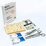 Kit de sutura de silicona duradera para estudiantes de medicina, veterinarios, enfermeras, kit de práctica de sutura   El regalo perfecto