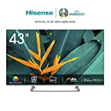 Hisense H43BE7400 Smart TV LED Ultra HD 4K 43'/110 cm, Dolby Vision HDR, Wide Colour Gamut, Unibody...