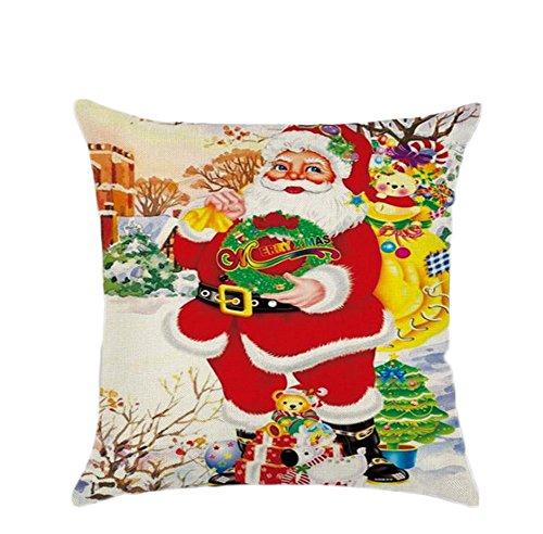 cosanter alta qualità Decorazioni per la casa natale babbo natale stampato federa cuscino custodia regalo 45x 45cm, Wie die Bilder B, 45x45cm