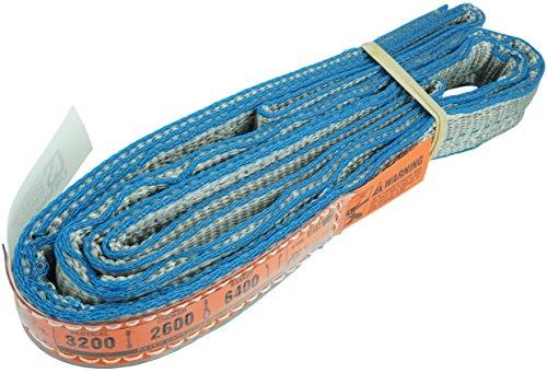 DD Sling (USA Made). 1' x 12', Flo Guard 2 Ply, Polyester Lifting Slings, Eye & Eye, Heavy Duty, 3,200 lbs Vertical, 2,600 Choker, 6,400 Basket Load Capacity (1' x 12')