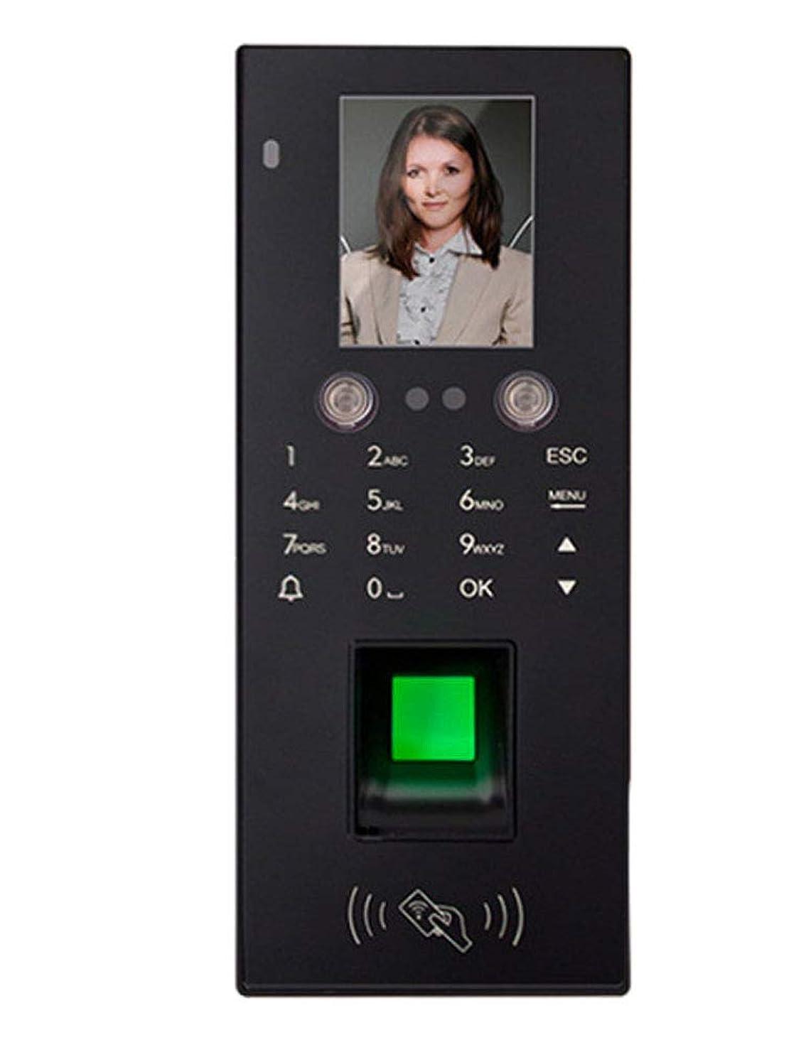 音声学スクラブ吸収剤スマートな顔認識のアクセス管理機械、パスワード指紋のアクセス管理および出席機械、磁気ロックのアクセス管理-black