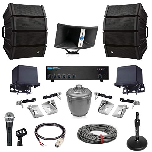 Best Price Atlas Sound BIA-100 60 Watt Bi-Axial Paging Horn Bundle with TOA HX-5W-WP Variable Disper...