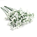 12pcs Artificial Flowers Gypsophila Baby's Breath Bouquet Silk Baby Breath Flowers for Home Wedding Party Christmas DIY Hotel Decorations Pretty Flowers