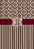 None Brand Reserve TCR Designer-Duschvorhang, Schokoladenbraun / Beige / Burg&errot
