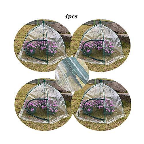 Invernaderos Jardin Interior Balcón Paraguas Surgir Pequeño Cobertizo Aislamiento Impermeable Prevención Aves Planta Flores PE Transparente Soporte Varilla Fibra Portátil BAI Yin