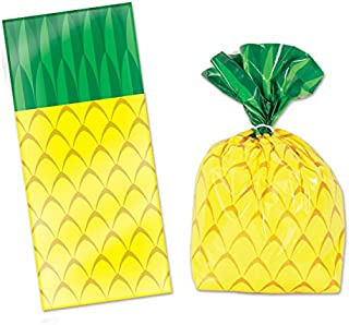 """50 pineapple cellophane bags and twist ties (25/pk) (2pk incl) - 4X9X2"""""""