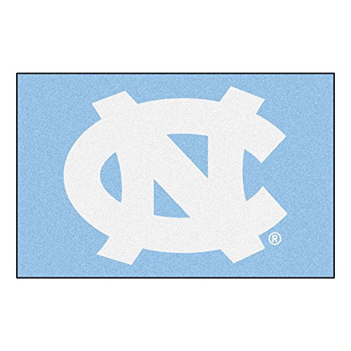 FANMATS 5116 NCAA UNC University of North Carolina - Chapel Hill Tar Heels Nylon Face Starter Rug Tar Heels Carolina Blue, 19