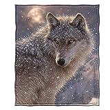 Dawhud Direct Fleece Throw Blanket by Collin Bogle (Lone Wolf)