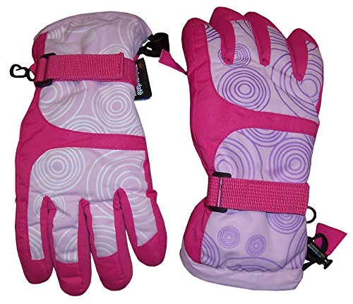 N'Ice Caps Kids Magical Color Changing Thinsulate Waterproof Winter Gloves (Fuchsia Color...