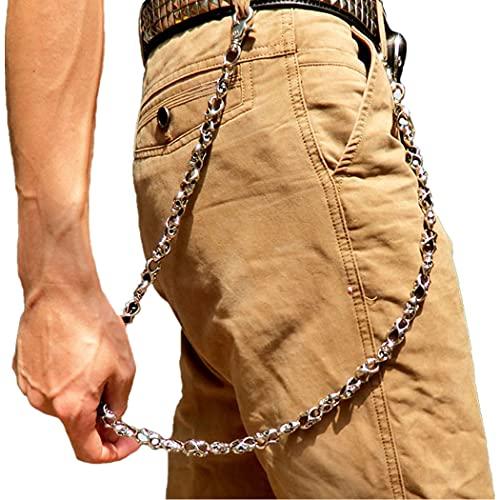 ZOYLINK Hose Kette Unisex Skelett Köpfe Dekor Jeans Kette Legierung Brieftasche Kette für Herren Damen
