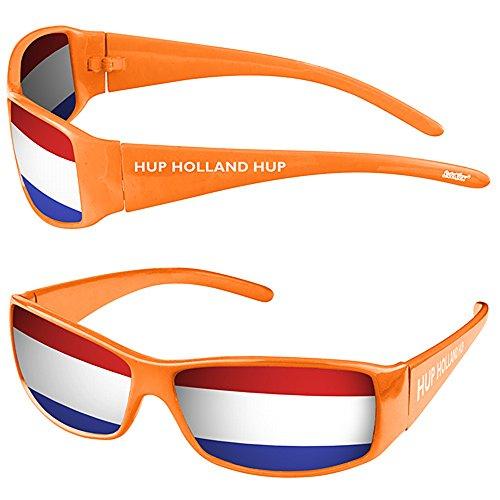 Taffstyle® Fanartikel Sonnenbrille Fan Brille zur Fussball Weltmeisterschaft WM & EM Europameisterschaft 2016 Länder Flagge Style - Niederlande