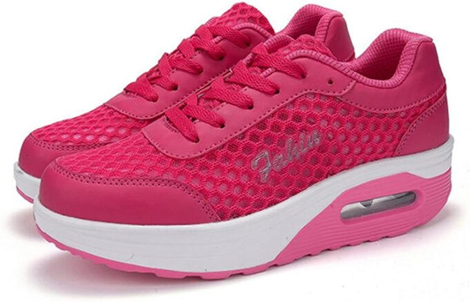Edv0d2v266 Women's Athletic Mesh Breathable Sneakers Running Sports shoes Anti-Slip shoes