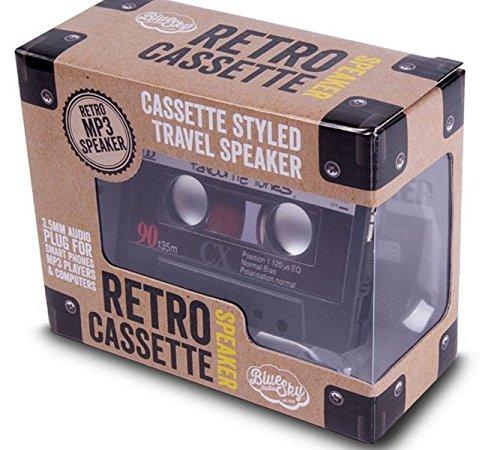 Retro Kassetten-Sprecher Speaker Anschluss von MP3-Player, Handys, PC - Geschenk
