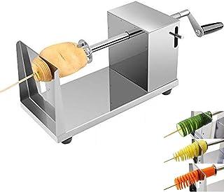 Cuchillo profesional en espiral para vegetales, máquina de corte de papa máquina de corte en espiral para frutas, papas, rodajas de tornado, pepino o zanahoria