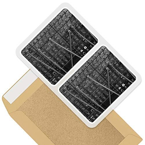 Impresionantes pegatinas rectangulares (juego de 2) 10 cm – Vintage teléfono centralita retro divertido calcomanías para portátiles, tabletas, equipaje, libros de chatarra, neveras, regalo genial #43730