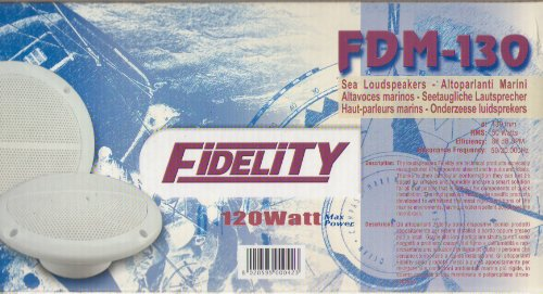Fidelity fdm130Lautsprecher Boot Marinen Durchmesser 130mm 120W Max Farbe Weiß