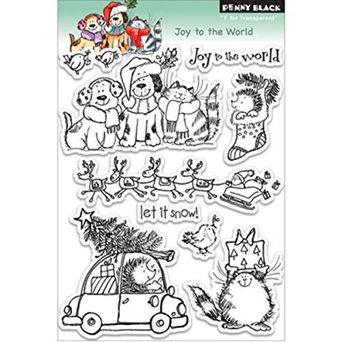 Penny Black Rubber Clear Stamps 12,7 cm x 6 Sheet-Joy to The World