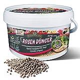Bodenkaiser Rosendünger in Granulatform, organisch-mineralischer Spezialdünger für Rosen mit Langzeit-Wirkung, 2,5 kg im praktischen Eimer, für gesunde, schöne Pflanzen