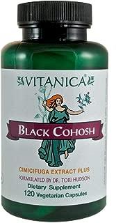 Vitanica Black Cohosh, Cimicifuga Extract Plus, Vegan, 120 Capsules