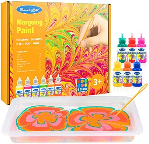 Dreamingbox Water Marbling Paint Kit for Kids Water Art Paint Set for Kids Age 4 12 Birthday product image