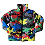 N/A/ SWEETWU - Abrigo de cuello alto para mujer y hombre, color camuflaje