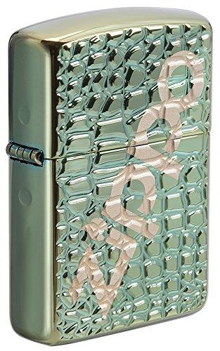 Zippo Unisex logo benzine-aansteker, transparant, 6 x 6 x 8 cm