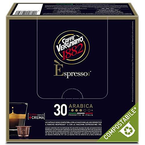 Caffè Vergnano 1882 Èspresso Capsule Caffè Compatibili Nespresso Compostabili, Arabica- 8 confezioni da 30 capsule (totale 240)