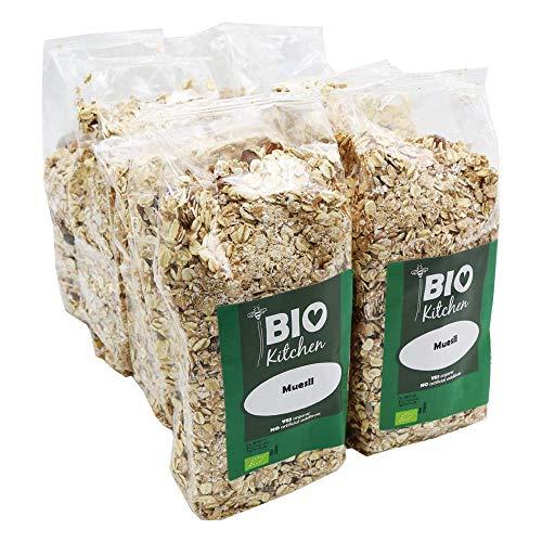 BioKitchen - Muesli ecológico (8 paquetes de 500 g)
