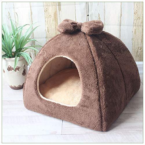 Faltbare Dog House Mat Cat Litter Teddy Spitz-Welpen-Zelt Kennel Nest Small Medium Hund Chihuahua mongolische Jurten Haustier-Bett (Color : C5, Size : 43x43x36 cm)