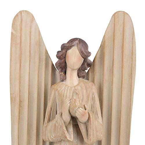 Yhjkvl Escultura de resina Ángel de Ángel cantando himnos de resina, escultura de arte moderna decoración manualidades adornos (tamaño: 15 x 9,5 x 37 cm; color: 2)