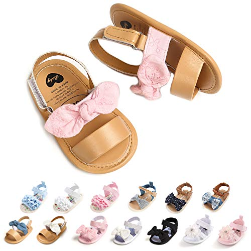 Baby Girls Sandals Soft Summer Baby Mary Jane Flats Bowknot Princess Dress Shoes Infant Newborn Girls Crib Shoes