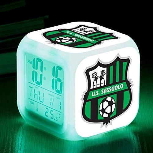 FDGFDG Club Logo Sport Fußball Team Fußball Kinder Schlafzimmer Tischlampe LED LED Wecker Wecker Babyuhr