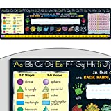 Really Good Stuff Chalkboard-Style Desktop Helpers (Set of 24) – 18'x5' Handy Desktop Reference for Numbers, Letters, Shapes, Colors and More – Durable Vinyl Self-Adhesive Resource for Student Desks