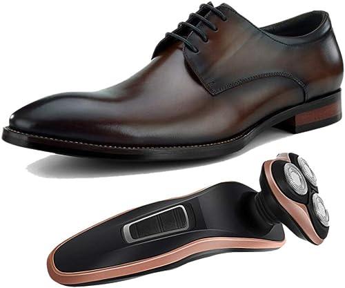 Inglaterra Caballero zapatos De Cuero De Hombre De Negocios Derby amarillo marrón negro Puntiagudo Fiesta