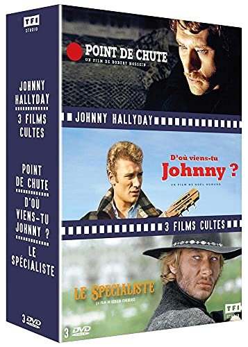 Hallyday-3 Films cultes : Point de Chute + D'où Viens-tu Johnny + Le Spécialiste