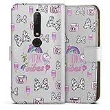DeinDesign Étui Compatible avec Nokia 6.1 Étui Folio Étui magnétique Minnie Mouse Produit sous...