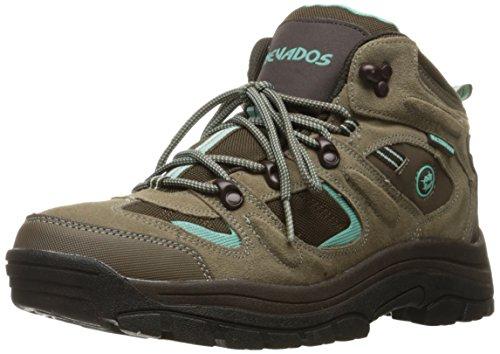 Nevados Women's Klondike Mid Hiking Boot, Shitake Brown, Dark Chestnut, Vivid Aqua