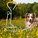 iFCOW - Set di cavi e paletti a spirale per cani in acciaio robusto