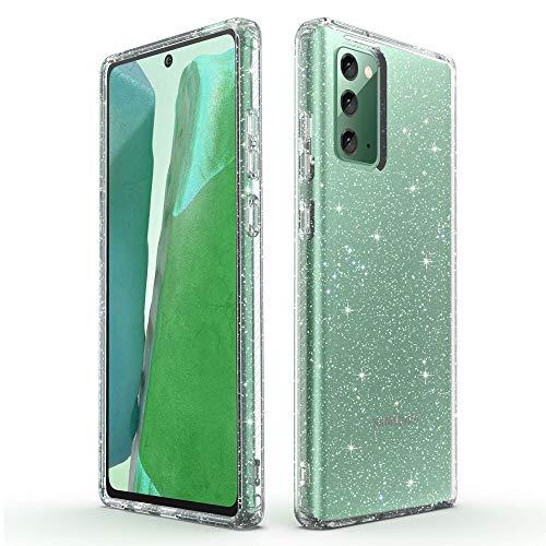 ULAK Funda Galaxy Note 20, Glitter Transparente Carcasa Bril